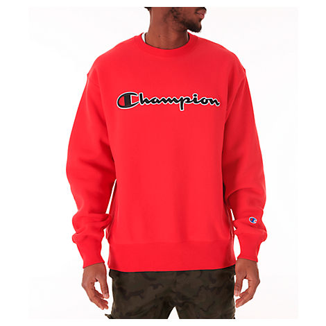 fc50b8bb Champion Men's Reverse Weave Crewneck Sweatshirt, Red | ModeSens