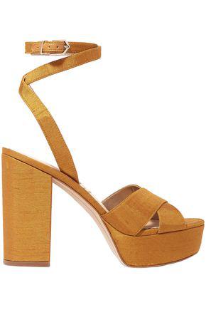 6aa05d5238c Sam Edelman Mara Dupion Platform Sandals In Mustard