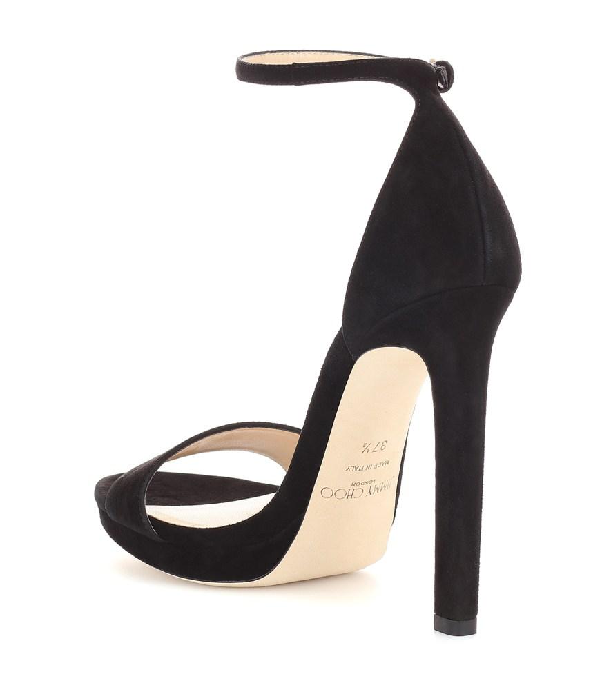 975c66662b9 Jimmy Choo Women s Misty 120 Suede High-Heel Platform Sandals In Black