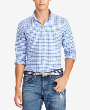 4838c90f6 Polo Ralph Lauren Men's Slim Fit Stretch Oxford Shirt In Cabana/Blue ...