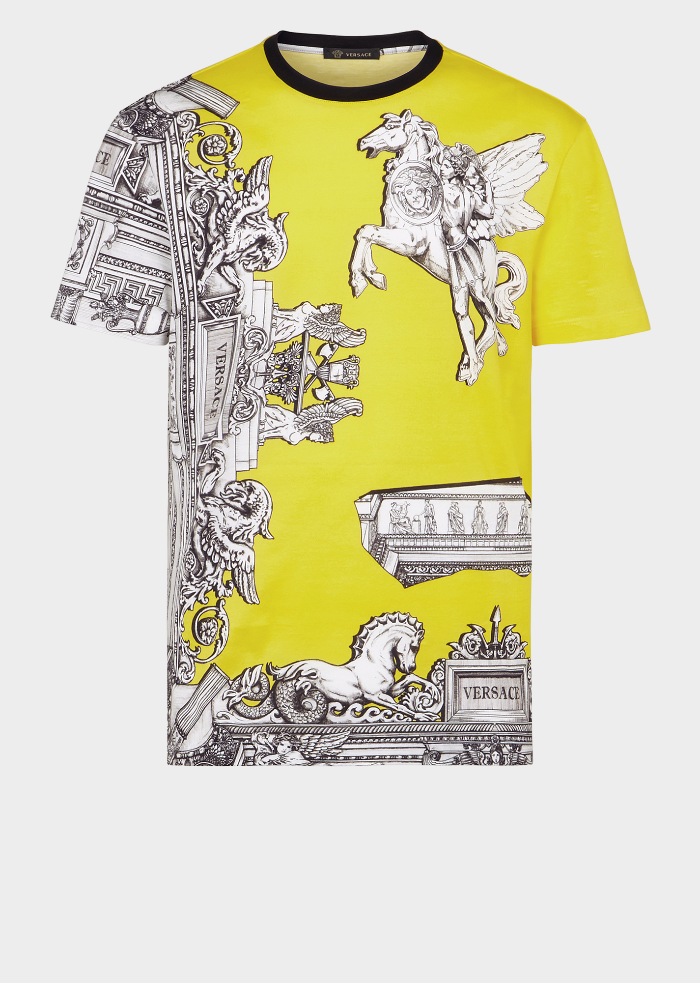 e50f7086 Versace Sustainable Pegasus Print Slim Fit T-Shirt In Yellow | ModeSens