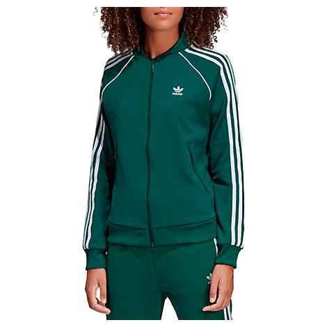 be17512c8400 Adidas Originals Adicolor Three Stripe Track Jacket In Green - Green ...