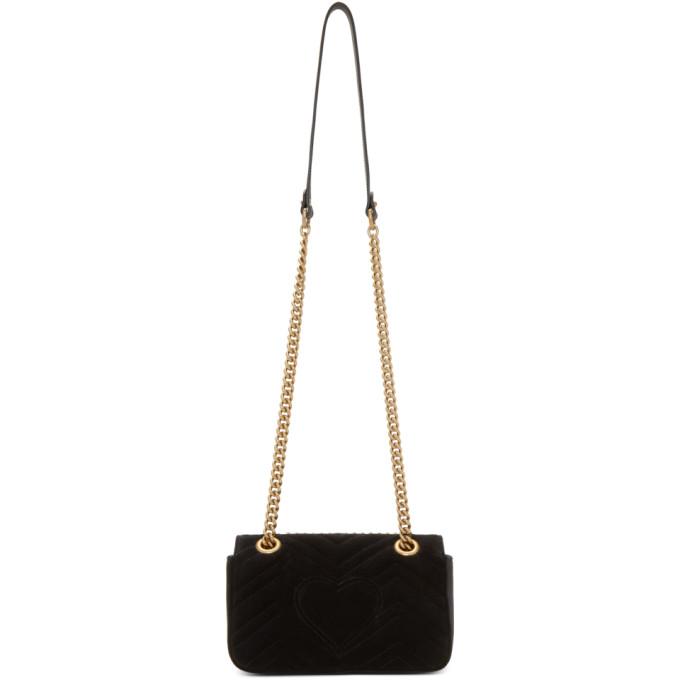 8fb3da01e2e629 Gucci Black Velvet Mini Gg Marmont 2.0 Bag | ModeSens