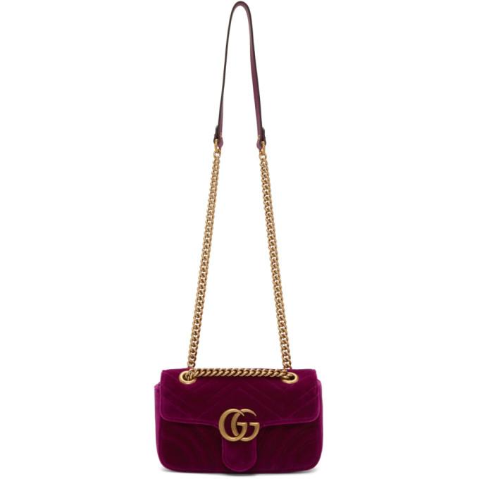 f3c7400d6c7950 Gucci Gg Marmont 2.0 Suede Shoulder Bag, <Font><Font>Fuchsia</Font ...
