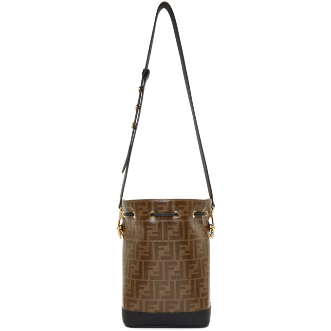 Fendi Black And Brown Small Forever  Mon Tresor Bag In F14Tu Black