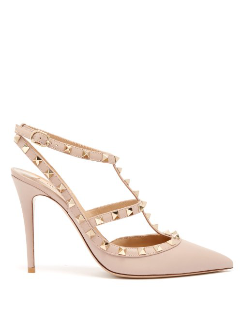 2208c2668 Valentino Rockstud Ankle Strap Pump With Tonal Studs 100 Mm In ...