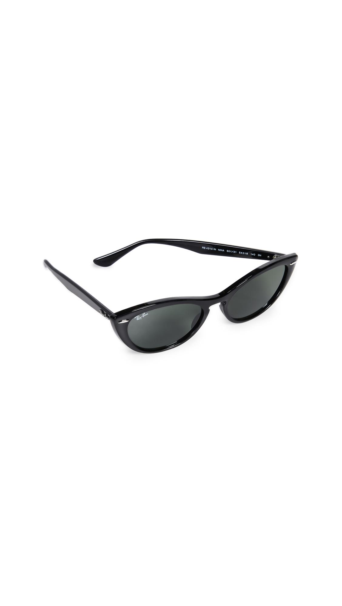 5869b23fb9 Ray Ban Rb4314N Nina Cat Eye Sunglasses In Black