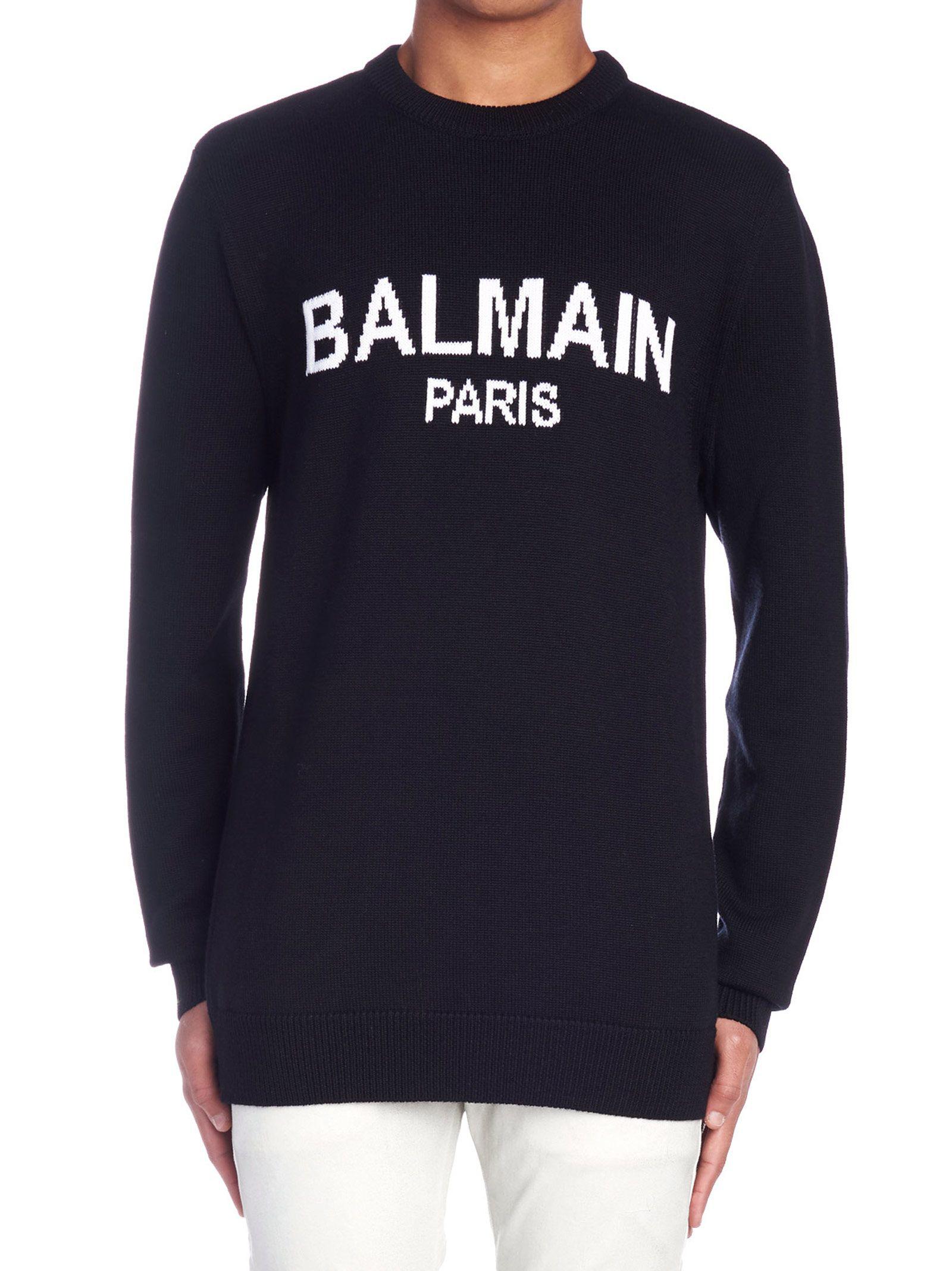 Paris Modesens In Sweater Logo Black Balmain zAqgA