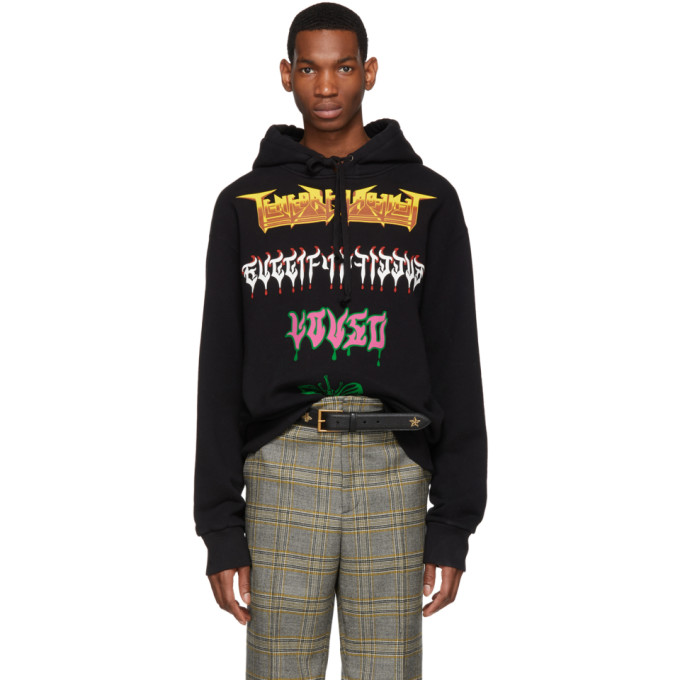 c271e50d1a0 Gucci Oversized Printed Loopback Cotton-Jersey Hoodie - Black