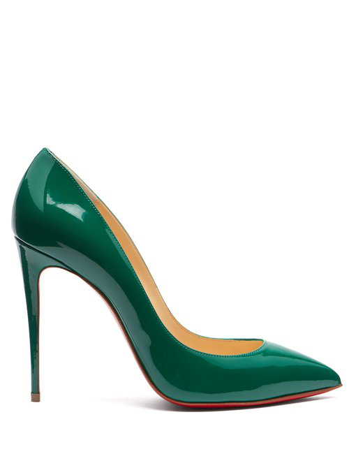 8cb7c80272d7 Christian Louboutin Pigalle Follies 100 Patent Leather Pumps In Green
