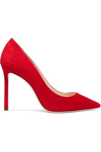3af25f4122b Jimmy Choo Women's Romy 100 High-Heel Pointed Toe Pumps In Red ...