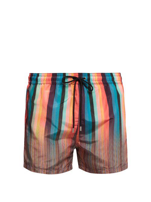 a10c5a00f1 Paul Smith - Signature And Artist Striped Swim Shorts - Mens - Multi ...