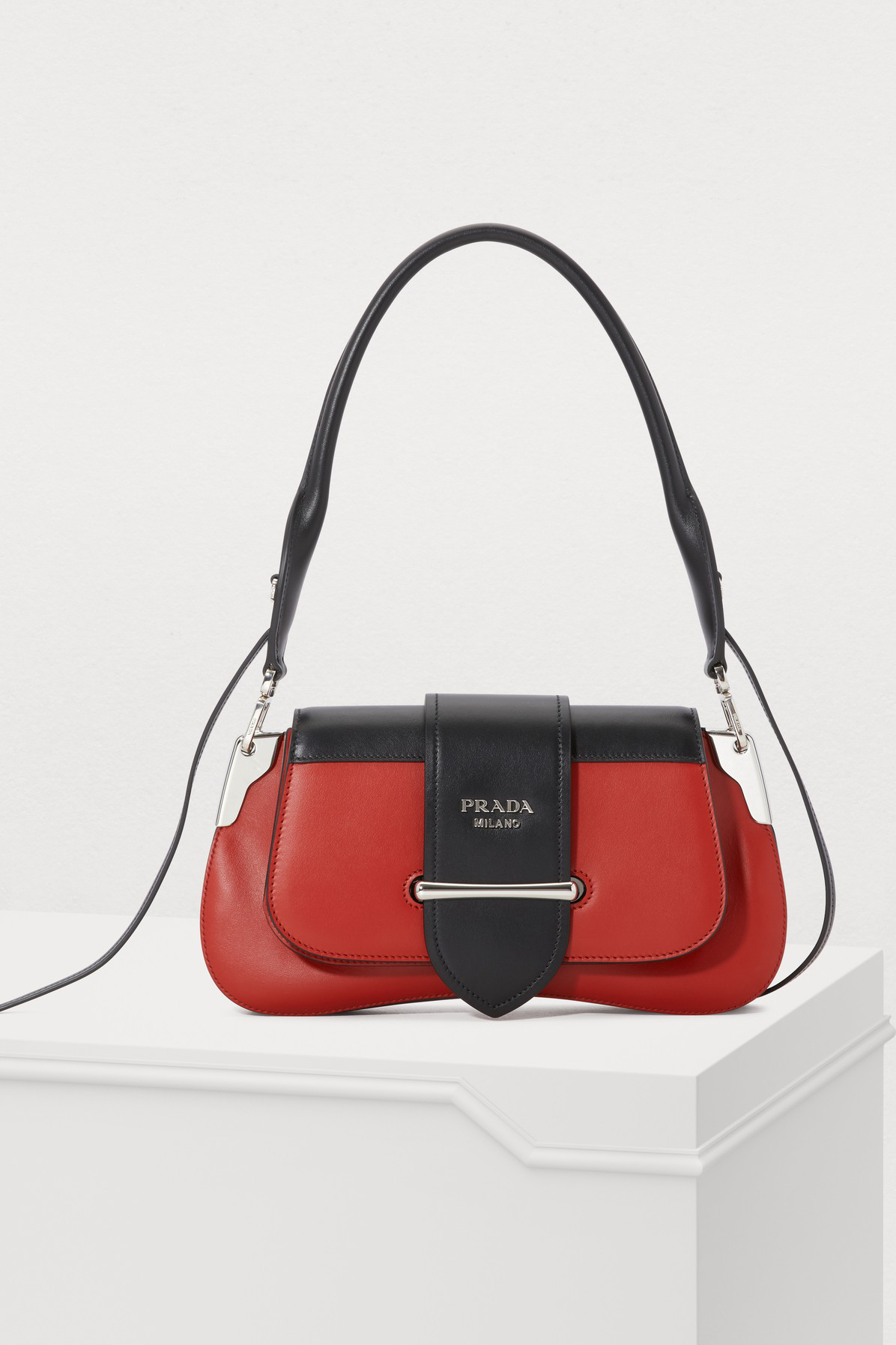 59d9dc4ad33e Prada Sidonie Leather Shoulder Bag In Red