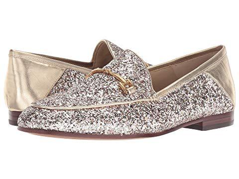 160442c6c2c Sam Edelman Women s Loraine Glitter   Gold Leather Loafers In Molten Gold