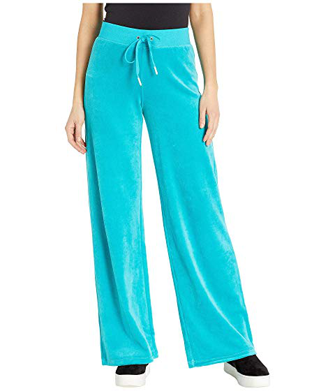 Juicy Couture Bling Malibu Velour Pants Teal Modesens