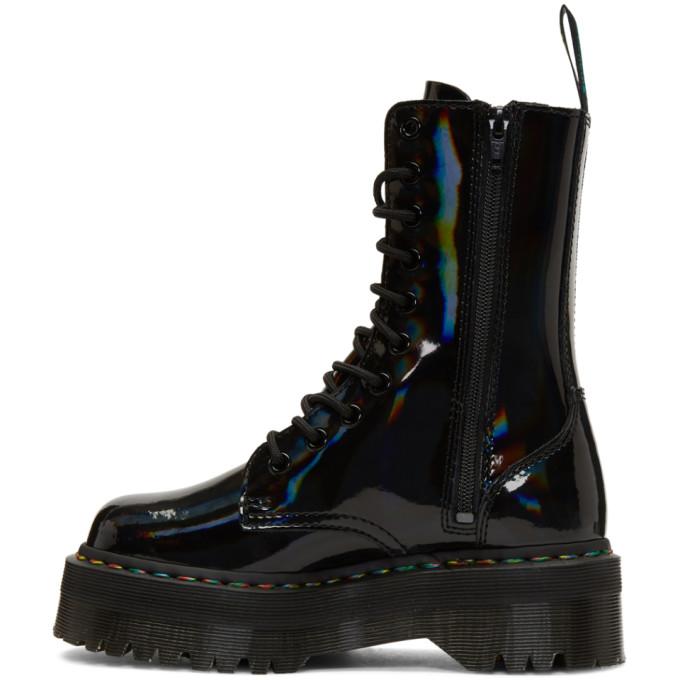 b3a37d2b98da Dr. Martens Black Rainbow Jadon Platform Boots