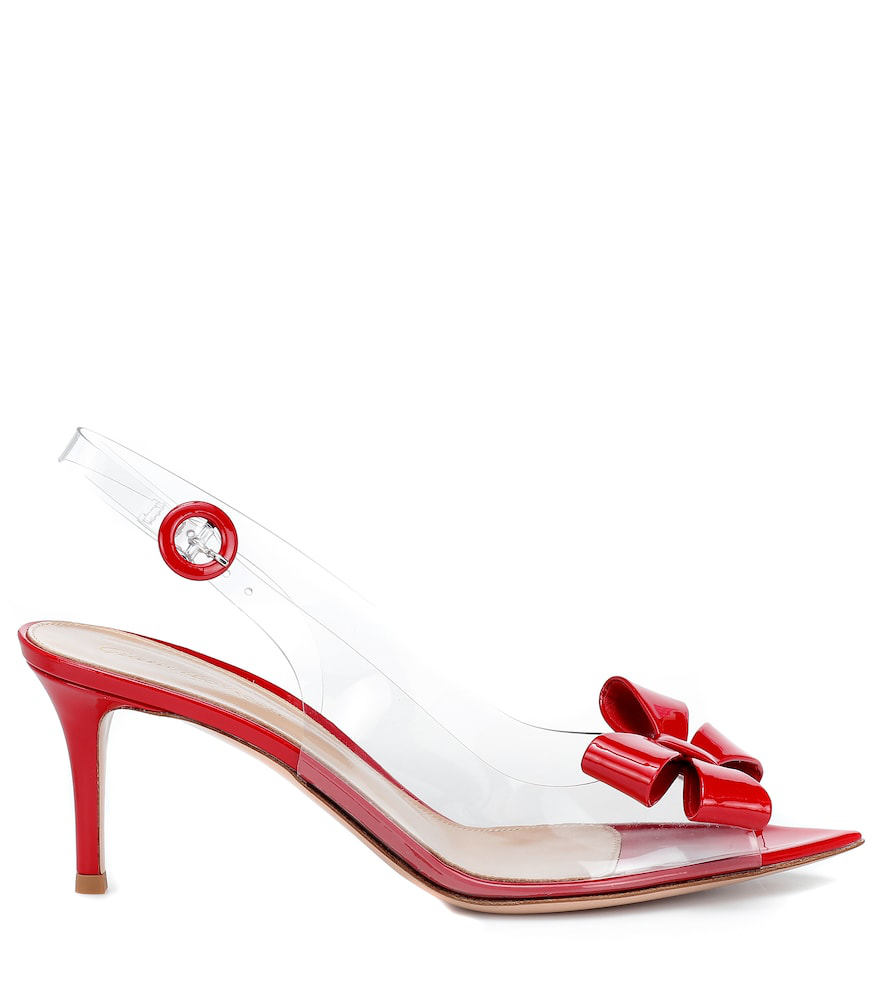 b62bb0a5253 Gianvito Rossi Exclusive To Mytheresa - Plexi 70 Slingback Sandals In Red