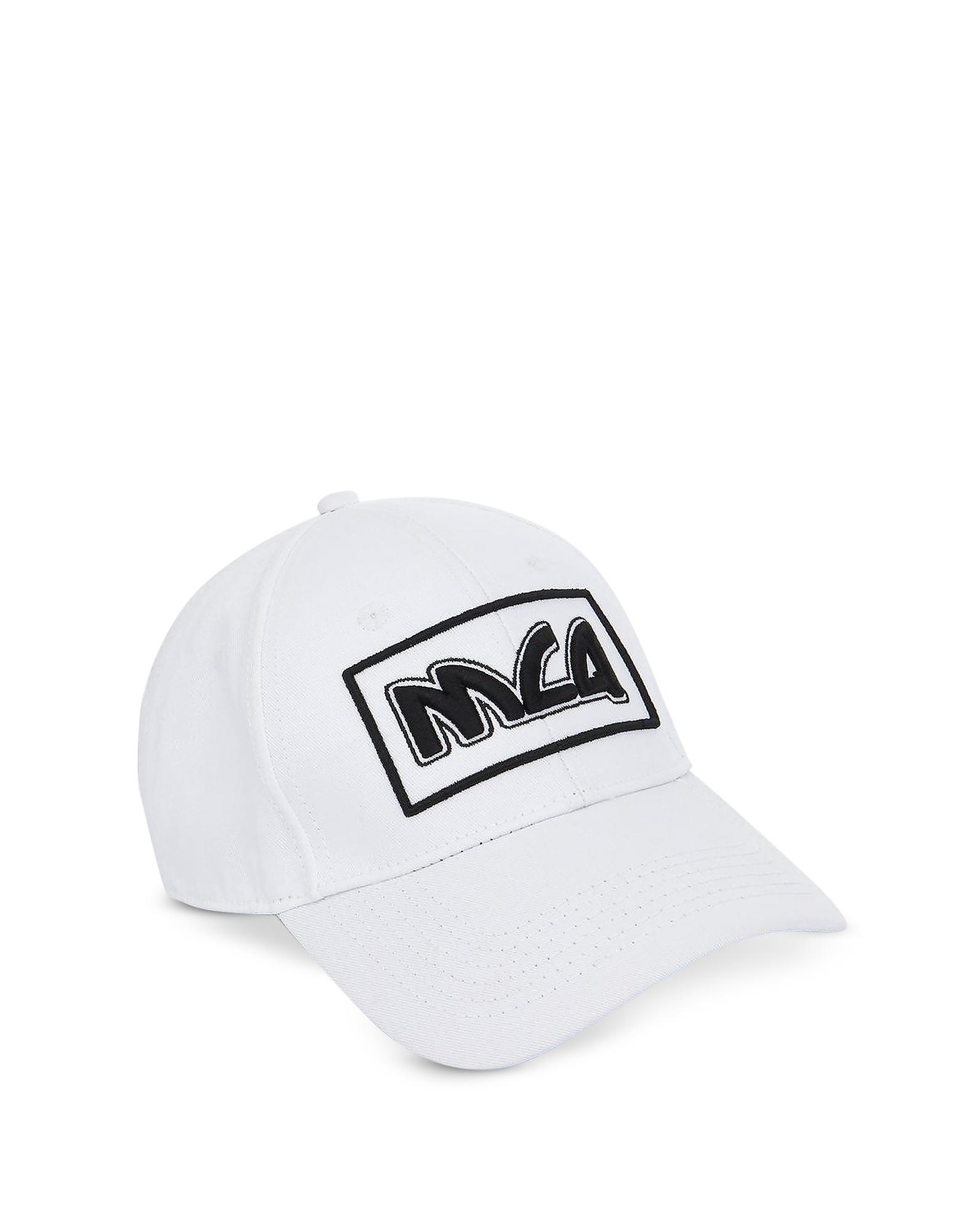 93c098280b231b Mcq By Alexander Mcqueen Mcq Alexander Mcqueen White Embroidered Metal Logo  Cap. FORZIERI