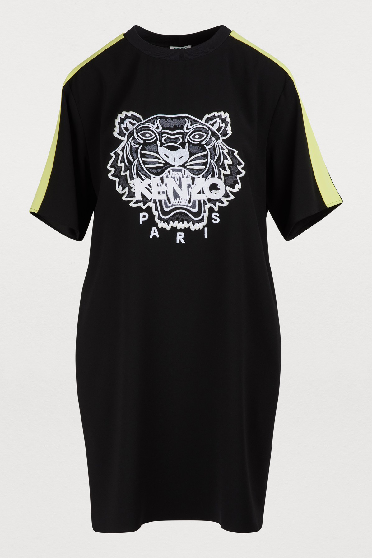 11734ff23 Kenzo Tiger Embroidered Crepe Mini Dress In Black | ModeSens