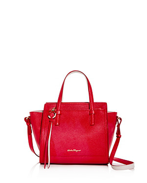 5847a2a049f5 Salvatore Ferragamo Amy Small Leather Crossbody In Flame Red Gold ...