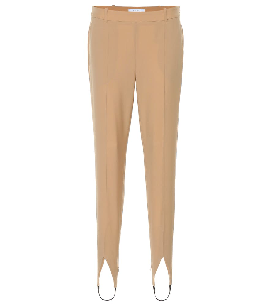 107318118464e Givenchy Mid-Rise Wool Stirrup Pants In Beige | ModeSens