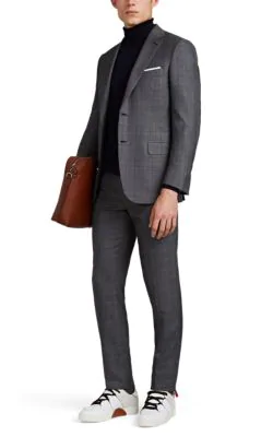 Brioni Brunico Wool-Silk Two-Button Suit In Gray