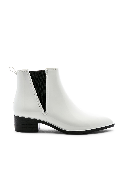 745c9d97b446 Jeffrey Campbell Mist Chelsea Waterproof Rain Boot In White Shiny ...