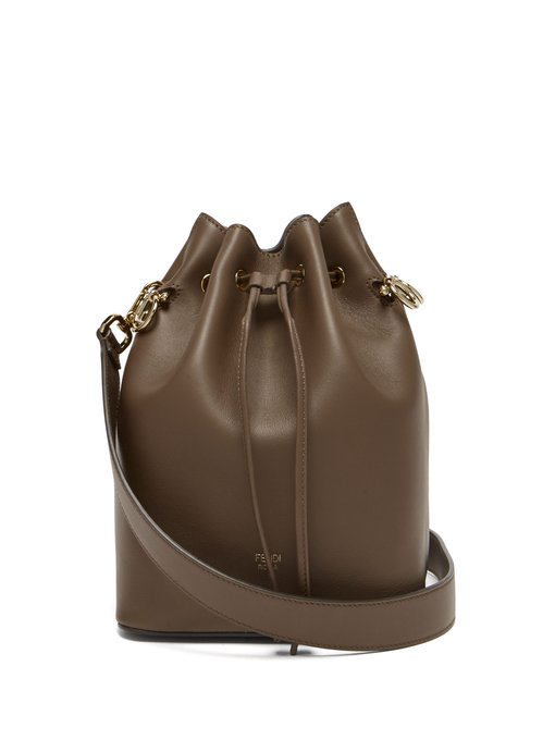 e4d1a95385 Fendi - Mon Tresor Leather Cross Body Bucket Bag - Womens - Dark Brown