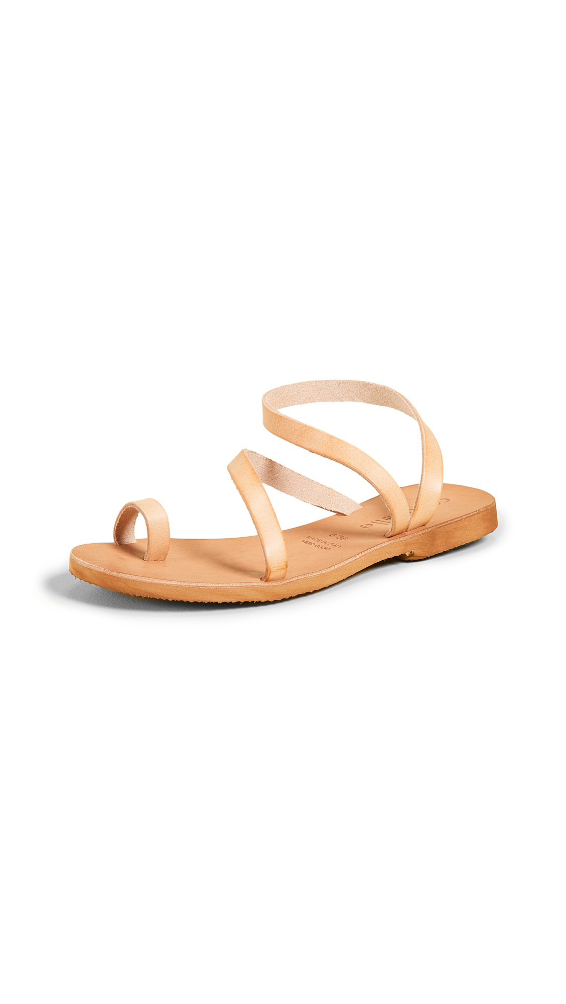 380dab7b9887 Cocobelle Crescent Strappy Sandals In Natural