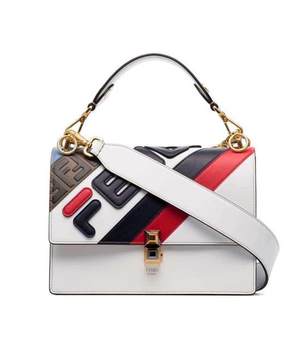 bf65073440 Fendi X Fila Kan I Mania Logo Shoulder Bag - White