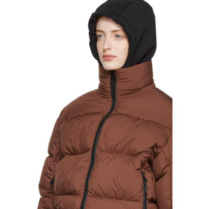 42e710cd6e Nike Lab Reversible Brown And Purple Down Nrg Puffer Jacket In Pueblo Brow