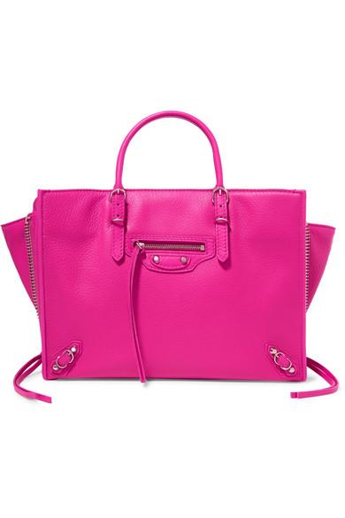 53e7663d4da Balenciaga Papier A6 Small Textured-Leather Tote In Pink | ModeSens