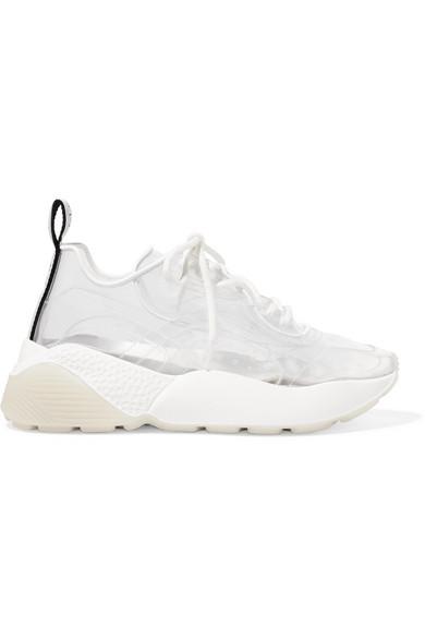 d804665de04 Stella Mccartney Eclypse Faux Leather-Trimmed Pu Sneakers In White ...