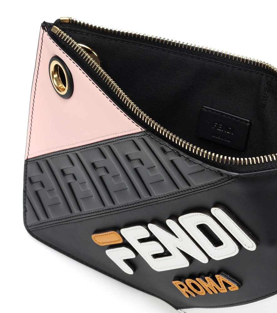 eff17316890e Fendi Mania Small Flat Clutch Bag In Black