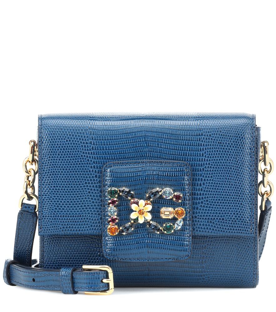 9e8eb742f601 Dolce   Gabbana Dg Millennials Mini Leather Shoulder Bag In Blue ...