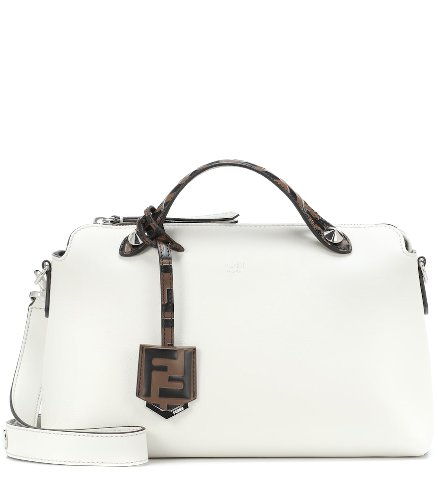 9822637e8886 Fendi By The Way Ff Leather Satchel Bag In White Multi