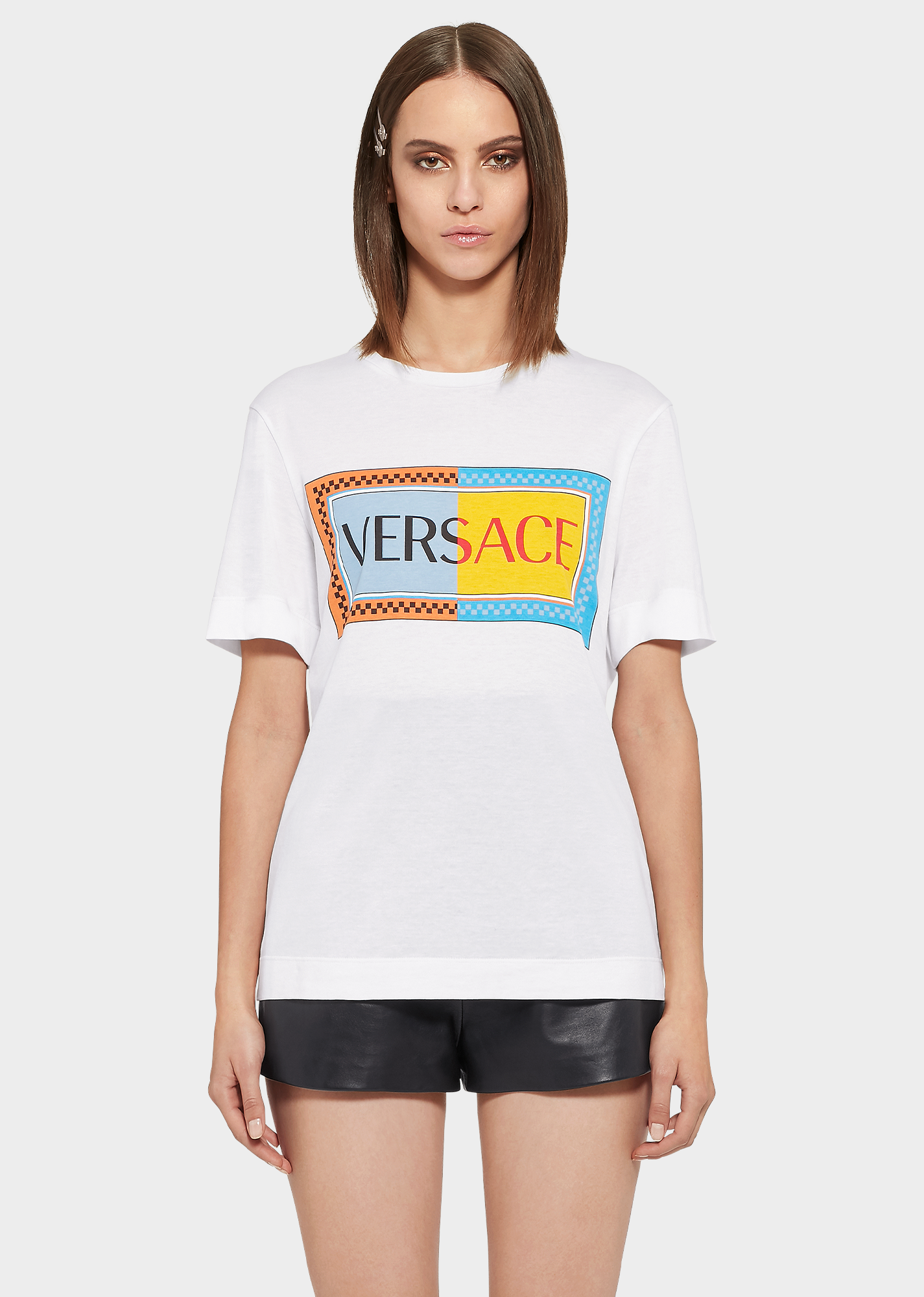 c138b87876 Sustainable Two-Tone 90S Logo T-Shirt in White
