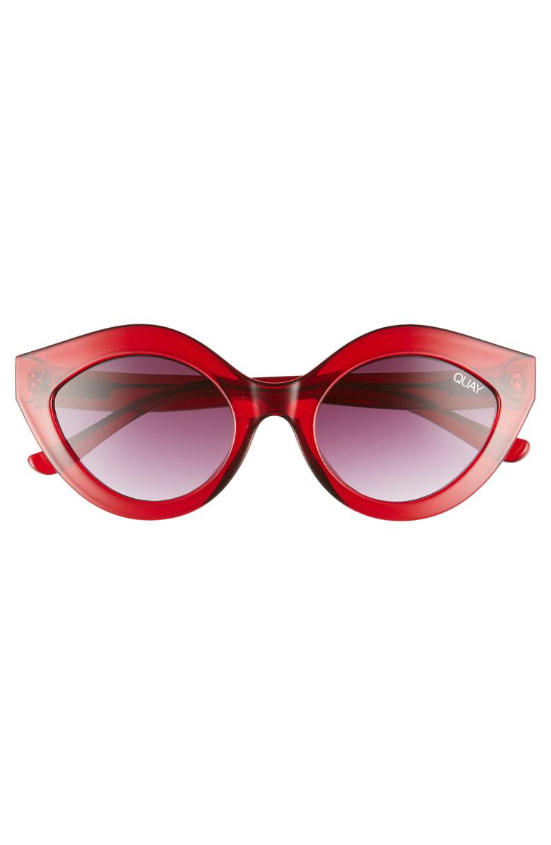 f920cbfe6e94e Quay Goodnight Kiss Cat Eye Sunglasses - Red   Purple Fade In Red Purple
