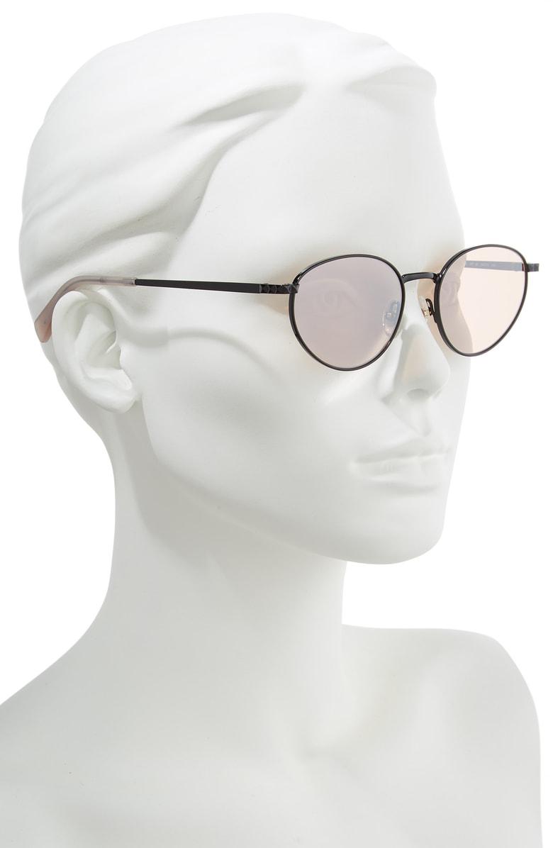 2fdc4d3f166cd Rebecca Minkoff Stevie1 54Mm Oval Sunglasses - Black