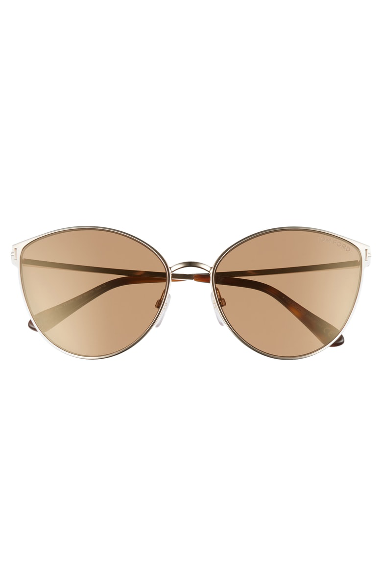 d46ee3a47022 Tom Ford Zeila 60Mm Mirrored Cat Eye Sunglasses - Rose Gold  Havana  Brown  Gold