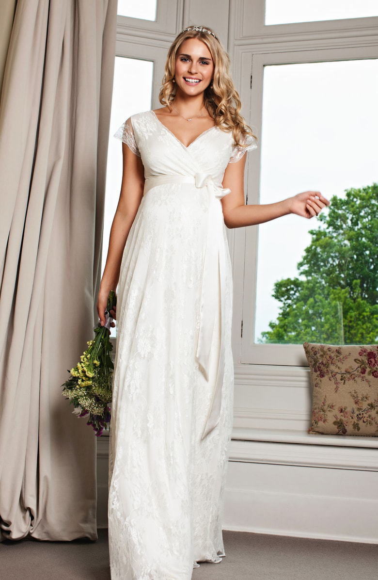 88157a91d06b1 Tiffany Rose Eden Lace Maternity Gown In Ivory Dream | ModeSens