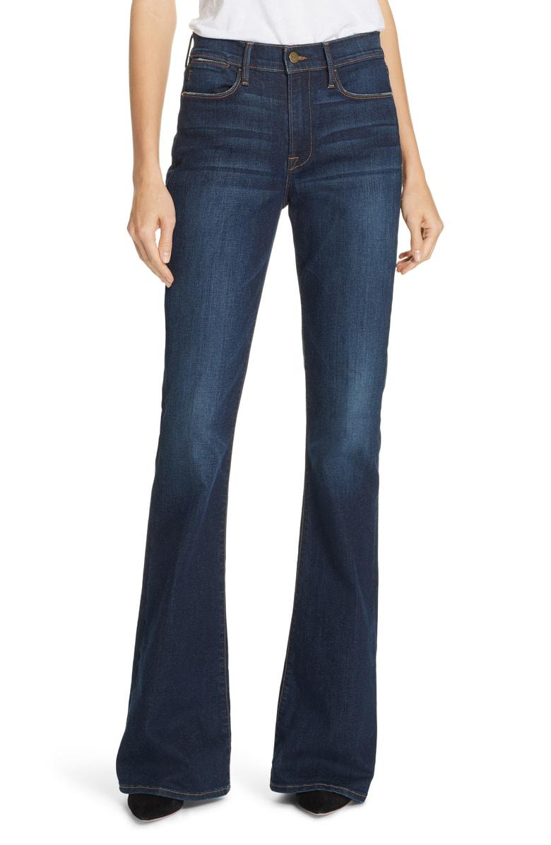 38bb0faa37938 Frame Le High Flare Jeans In Meribel