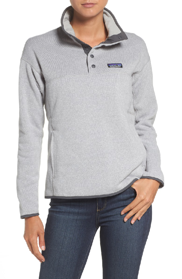 Patagonia Lightweight Better Sweater Marsupial Fleece Pullover In Drifter Grey
