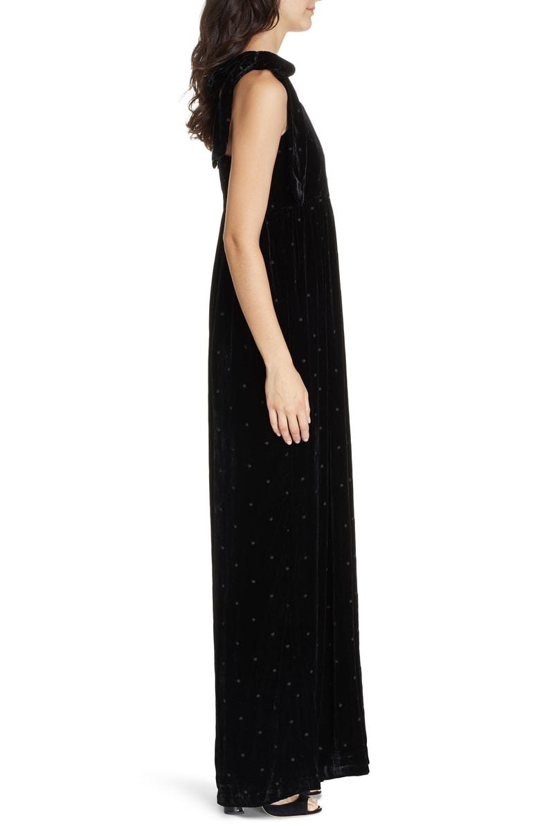 b98f6af5dad2 Ulla Johnson Minnet Bow-Embellished Swiss-Dot Velvet Jumpsuit In Black