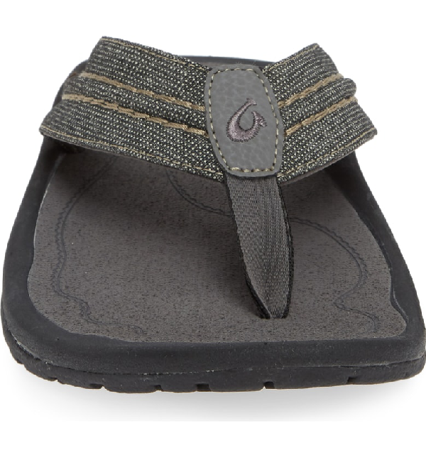 72f93879e2e Olukai Men s Hokua Mesh Faux-Leather Flip-Flop Sandals