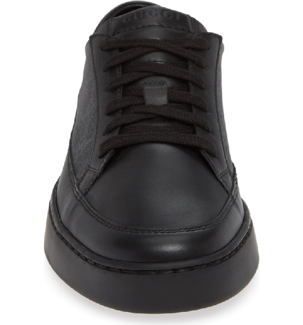 Gucci Men's Common Canvas & Leather Lace Up Sneakers In Black