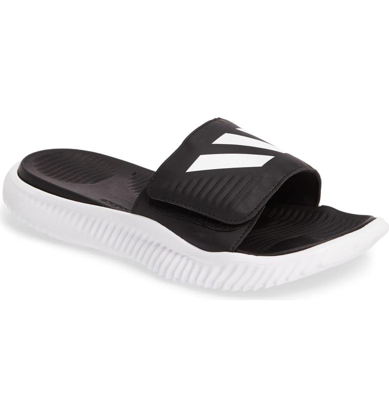 43cc0f4f80751 Adidas Originals Alphabounce Slide Sandal In White Core Black White ...