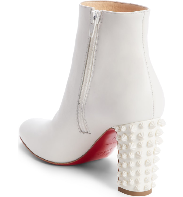 36f069e5544 Suzi Folk 85 Spiked Leather Ankle Boots in White