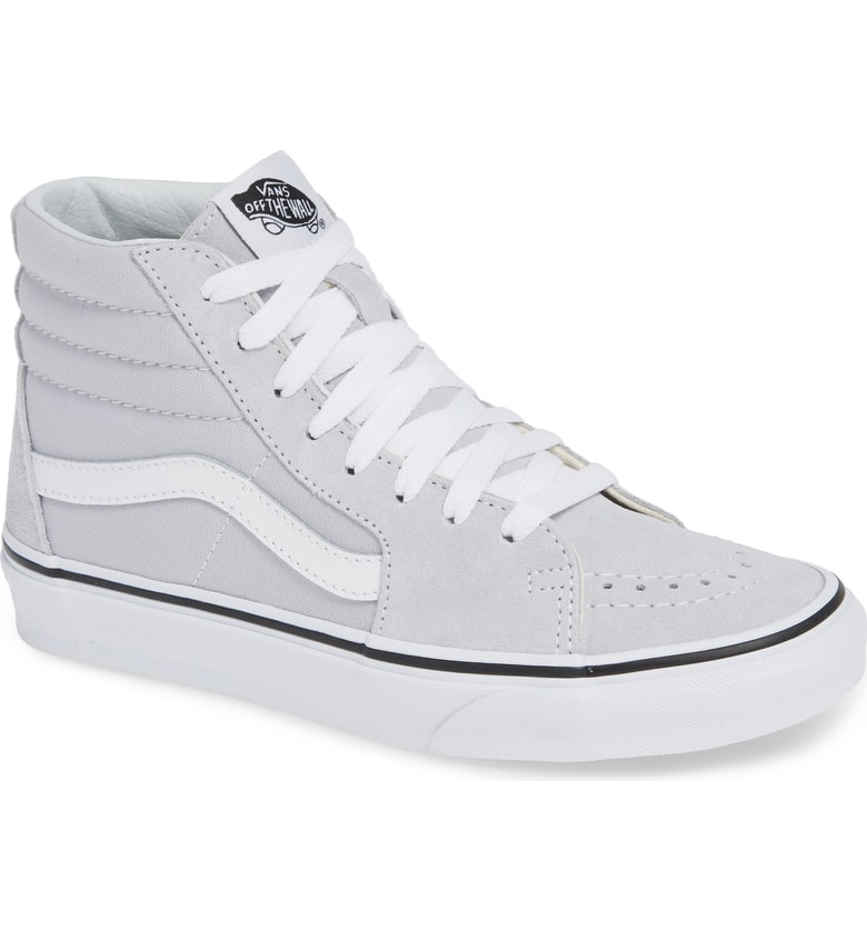 a2a2544e670d54 Vans  Sk8-Hi  Sneaker In Gray Dawn  True White