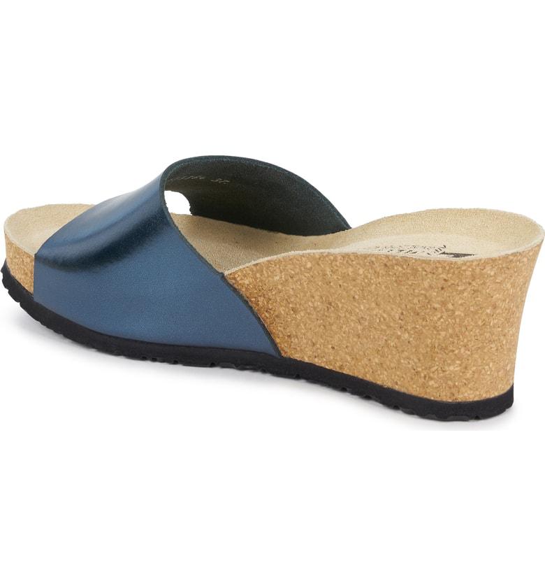97a2e562d5e Mephisto Lise Platform Wedge Sandal In Blue Leather